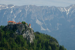 Ausgeblutetes Schloss Stockfoto