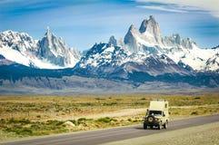 Ausgedehnte Ansicht des Nationalparks Los Glaciares in Süd-Patag Lizenzfreie Stockbilder