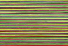 Ausgedehnte elastische Bänder der Farbe Stockfoto