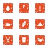 Ausgedehnte Ikonen eingestellt, Schmutzart lizenzfreie abbildung