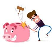 Ausgefallen zum Brechen von Sparschwein Stockfotos