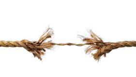 Ausgefranstes Seil ungefähr zum zu brechen Lizenzfreies Stockfoto