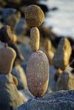 Ausgeglichene Felsen Stockbilder
