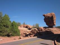 Ausgeglichene Felsformation, Colorado Stockfotografie