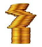 Ausgeglichene Goldmünze. Lizenzfreie Stockfotos