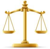 Ausgeglichene Skala von Gerechtigkeit Lizenzfreie Stockbilder