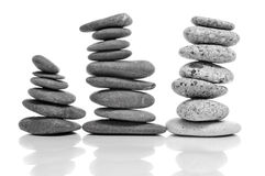 Ausgeglichene Zensteine Stockfotos