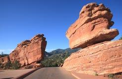 Ausgeglichener Felsen 2 Stockfoto