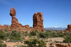 Ausgeglichener Felsen - Bögen NP Stockbild