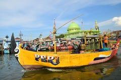 Ausgelöst für die Fischerei Stockfotos