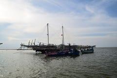 Ausgelöst für die Fischerei Stockfoto