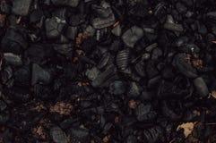Ausgestorbene Kohle des Holzes stockbild