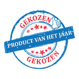 Ausgesuchtes Produkt der Jahr Holländersprache Stockfotos