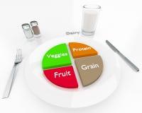 Ausgewogene Diät Stockfoto