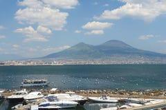 Ausgezeichnete Ansicht vom Vesuv, Golf von Neapel, Italien lizenzfreies stockfoto