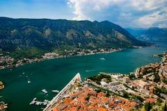 Ausgezeichnete Ansicht von Kotor-Bucht Montenegro Lizenzfreie Stockbilder