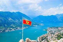 Ausgezeichnete Ansicht von Kotor-Bucht Montenegro Lizenzfreies Stockbild