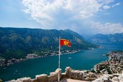 Ausgezeichnete Ansicht von Kotor-Bucht Montenegro Stockfoto