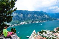Ausgezeichnete Ansicht von Kotor-Bucht Montenegro Lizenzfreie Stockfotos