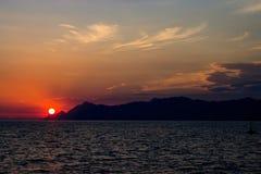 Ausgezeichnete Ansicht von Kotor-Bucht Montenegro Stockfotografie