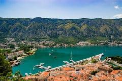 Ausgezeichnete Ansicht von Kotor Montenegro Lizenzfreies Stockfoto