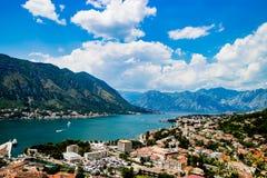 Ausgezeichnete Ansicht von Kotor Montenegro Stockfotografie