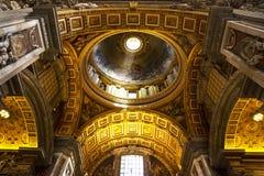 Ausgezeichnete Decke in Vatikan Stockfotografie