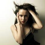 Ausgezeichnete junge Frau im Korsett lizenzfreies stockfoto
