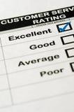 Ausgezeichnete Kundendienst-Bewertung Stockfotos