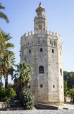 Ausgezeichneter Turm des Goldes in Sevilla Lizenzfreies Stockfoto