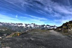 Ausgezeichnetes Bild der Alpen bei 3000 Metern Stockfotografie