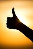 Ausgezeichnetes Handzeichenschattenbild Lizenzfreie Stockfotos