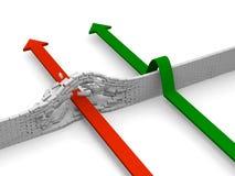 Ausgleichen des Hindernisses Lizenzfreie Stockfotos