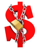 Ausgleichung des Dollars 3D stock abbildung