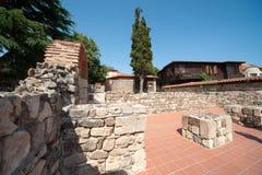Aushöhlungen der alten Architektur in Bulgarien Stockbild