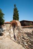 Aushöhlungen im alten von Sozopol in Bulgarien Lizenzfreies Stockbild