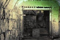 Aushöhlungen von Archäologen in den Voraussetzungen des zweiten Temp Stockfoto