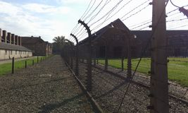 Aushwitz. Where a lot of people was tortured to death Royalty Free Stock Images