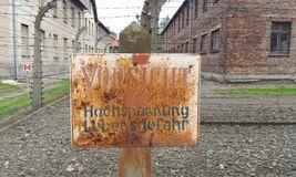 Aushwitz. Where a lot of people was tortured to death Royalty Free Stock Photos