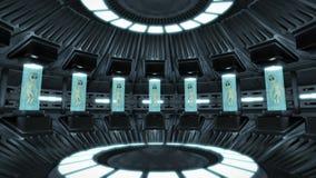 Ausländer innerhalb eines UFO Lizenzfreie Stockfotos