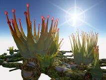 Ausländer pflanzt Pikaka lizenzfreie abbildung