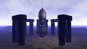 Ausländer UFO-Lieferung Lizenzfreies Stockfoto