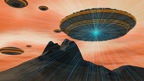 Ausländer UFO-Lieferung Lizenzfreie Stockbilder