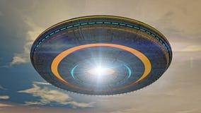 Ausländer UFO-Lieferung Lizenzfreie Stockfotos