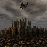ausländische Platzlieferung UFO-3d über Nacht Lizenzfreies Stockfoto