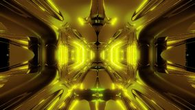 Ausländische Schiffskorridor-Tunneltapete 3d, die Illustration 3d vj Schleife überträgt stock abbildung