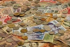 Ausländische Währung stockbild