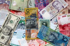 Ausländische Währung Stockfotografie