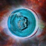 Ausländischer blauer Planet vektor abbildung