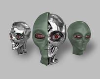 Ausländischer Cyborg 1 vektor abbildung